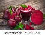 beetroot juice   | Shutterstock . vector #210431701