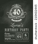 anniversary birthday invitation ... | Shutterstock .eps vector #210432445