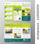 real estate brochure flyer... | Shutterstock .eps vector #210432454