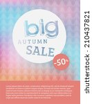 sale concept with geometric... | Shutterstock .eps vector #210437821