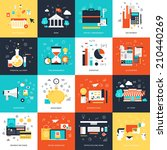 vector collection of flat and... | Shutterstock .eps vector #210440269