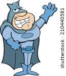 cartoon illustration of a super ...   Shutterstock .eps vector #210440581