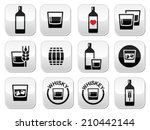 whisky or whiskey alcohol... | Shutterstock .eps vector #210442144
