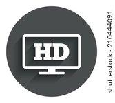 hd widescreen tv sign icon....