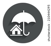 home insurance sign icon. real...
