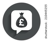 money bag sign icon. pound gbp...