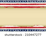 horizontal american dirty flag. ... | Shutterstock .eps vector #210447277