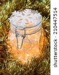 Christmas Lights In A Glass Jar