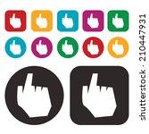 click icon   hand icon  ... | Shutterstock .eps vector #210447931