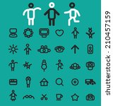 doodles icons  signs  symbols ...   Shutterstock .eps vector #210457159