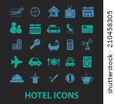hotel  motel icons  signs ... | Shutterstock .eps vector #210458305