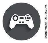 joystick sign icon. video game...