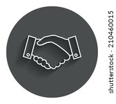 handshake sign icon. successful ...