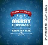 merry christmas | Shutterstock .eps vector #210465031