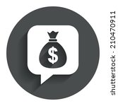 money bag sign icon. dollar usd ...