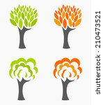 spring and autumn trees seasons ... | Shutterstock .eps vector #210473521