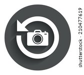 front photo camera sign icon....