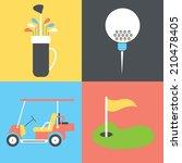 golf collection   vector...   Shutterstock .eps vector #210478405