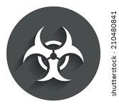 biohazard sign icon. danger... | Shutterstock . vector #210480841