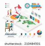 infographic education template... | Shutterstock .eps vector #210484501