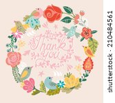 beautiful greeting card with... | Shutterstock .eps vector #210484561