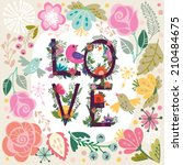 "beautiful greeting card ""i love ... 