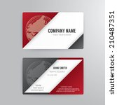 business card template modern... | Shutterstock .eps vector #210487351