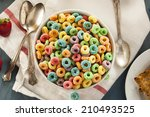 Coloful Fruit Cereal Loops In ...