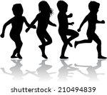 children silhouette | Shutterstock .eps vector #210494839