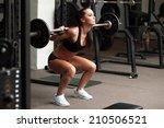 beautiful girl exercising... | Shutterstock . vector #210506521
