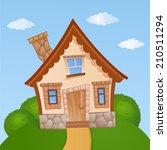 cartoon house | Shutterstock .eps vector #210511294
