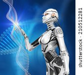 modern designed virtual human...