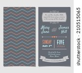 vector vintage invitation card... | Shutterstock .eps vector #210515065