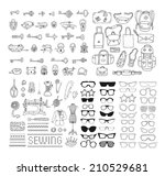 big hand drawn set with... | Shutterstock .eps vector #210529681