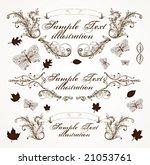 vintage vector frames for... | Shutterstock .eps vector #21053761
