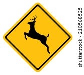 deer warning sign | Shutterstock .eps vector #210568525