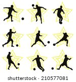 set of soccer player vector... | Shutterstock .eps vector #210577081