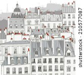 Roofs Of Paris   Vector...