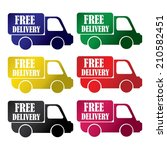 free delivery colorful icons... | Shutterstock . vector #210582451