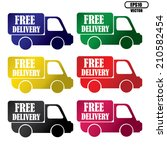 vector free delivery colorful... | Shutterstock .eps vector #210582454