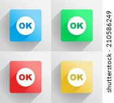 ok button in flat style ... | Shutterstock .eps vector #210586249