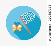 butterfly net flat icon with... | Shutterstock .eps vector #210587335