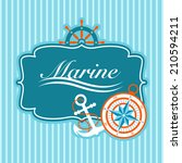 Vector Nautical Card With...