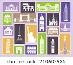 set of travel icons. | Shutterstock . vector #210602935