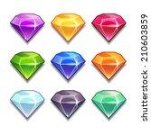 cartoon vector gems and... | Shutterstock .eps vector #210603859