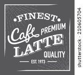 black and white finest premium... | Shutterstock .eps vector #210605704