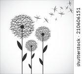 dandelion vector. | Shutterstock .eps vector #210606151