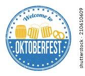 oktoberfest grunge rubber stamp ... | Shutterstock .eps vector #210610609