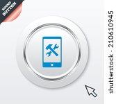 smartphone repair sign icon....