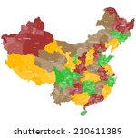 A large and detailed map of China with all prefectures and main cities.